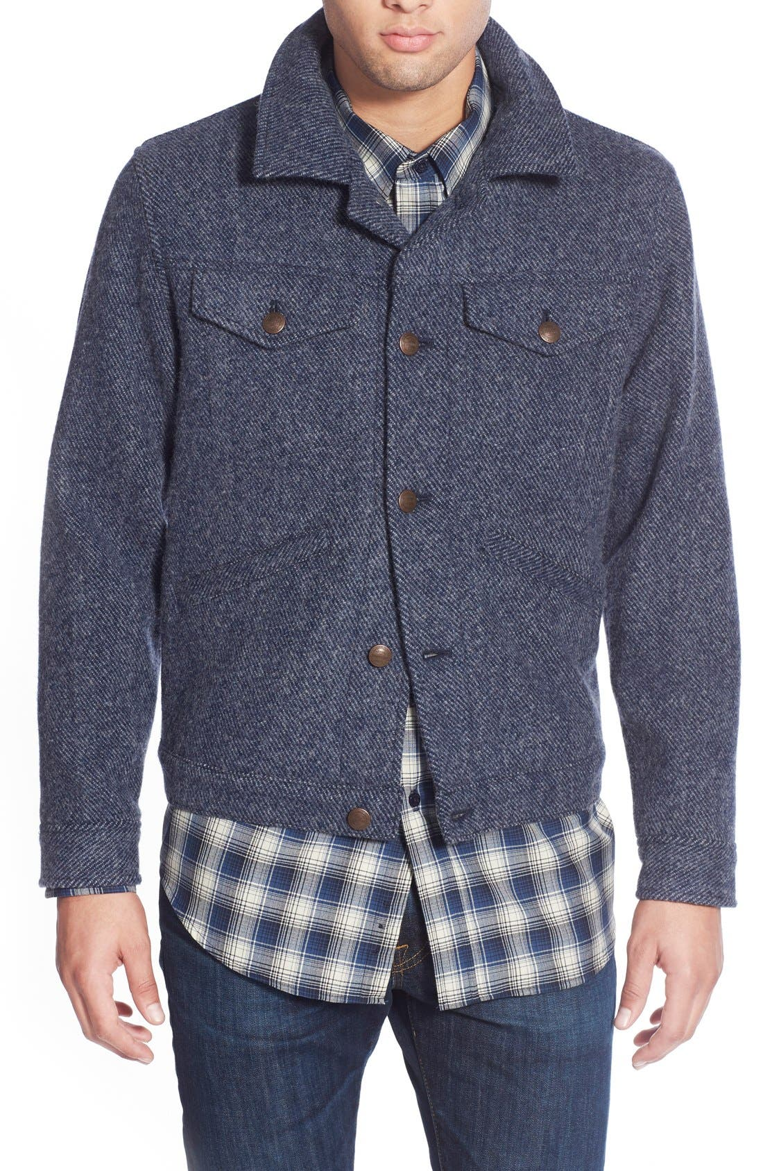 Wool Twill Jacket, Main, color, 410