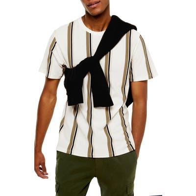Topman Luke Classic Fit Stripe Pique T-Shirt, White