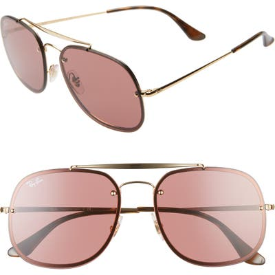 Ray-Ban Blaze General 5m Aviator Sunglasses - Black/ Gold/ Pink Solid