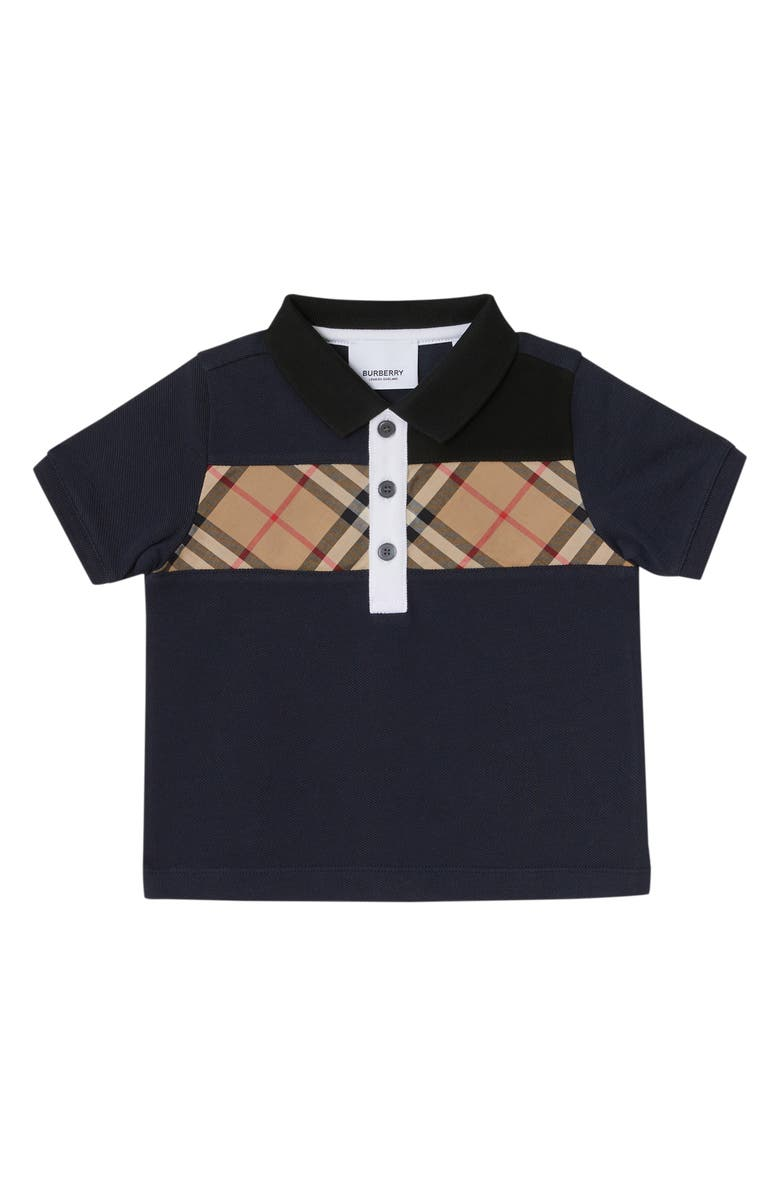 BURBERRY Mini Jeff Polo, Main, color, NAVY