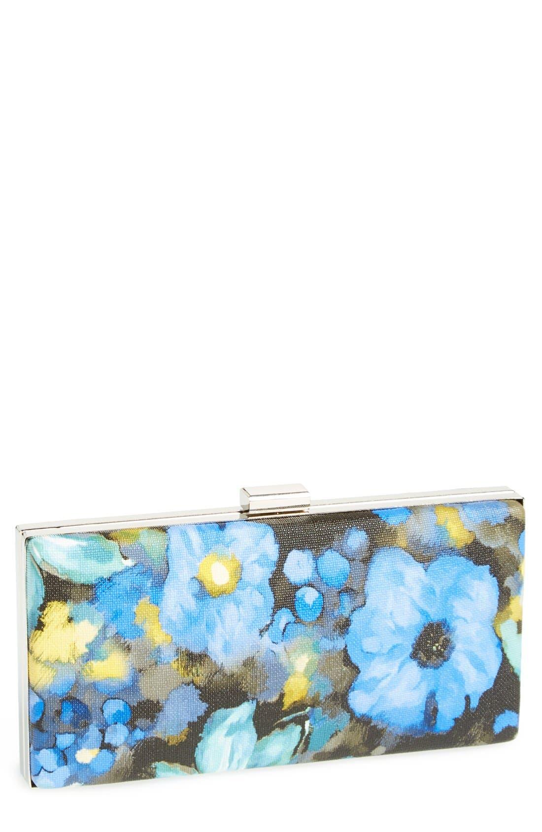 ,                             Natasha Couture 'Watercolor' Box Clutch,                             Main thumbnail 1, color,                             411