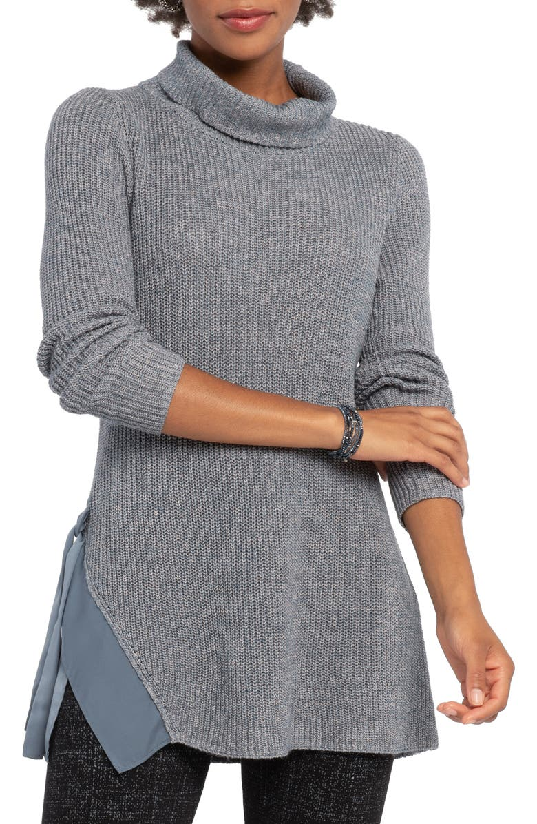NIC+ZOE West Side Sweater, Main, color, WASHED SLATE MIX
