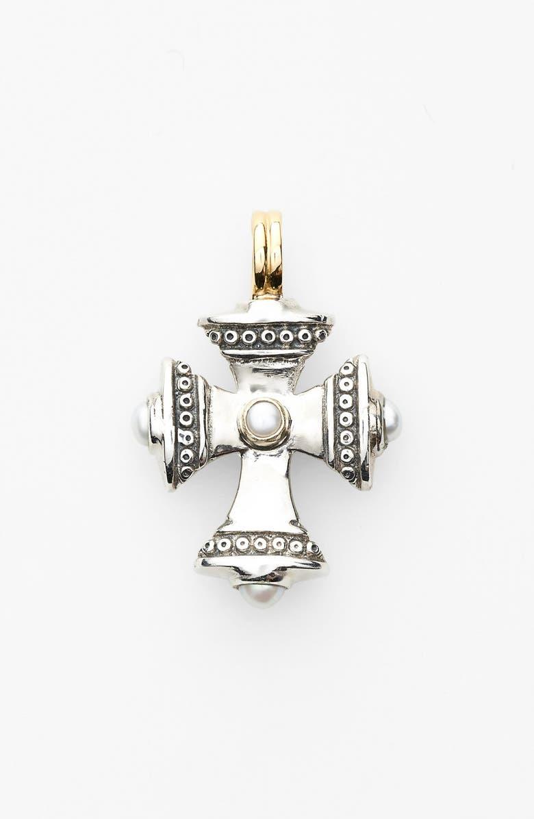 KONSTANTINO 'Kassandra' Small Maltese Cross Pendant, Main, color, SILVER/ GOLD