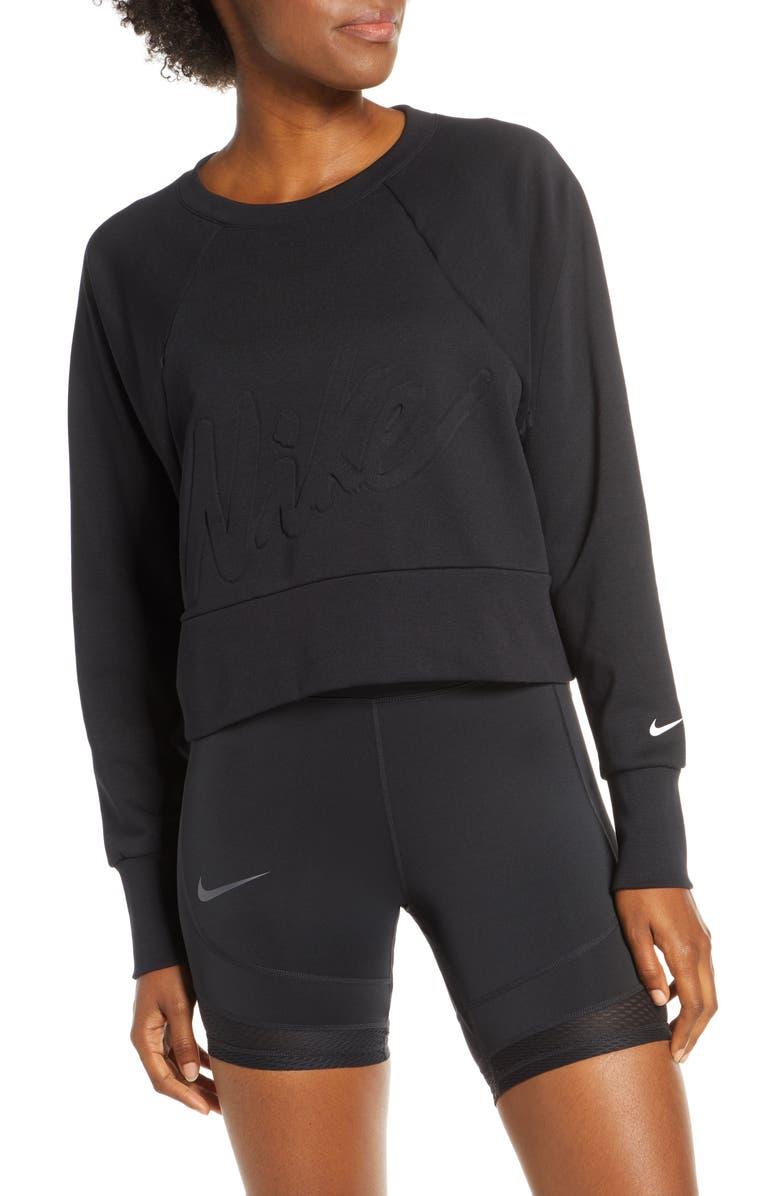 NIKE Dri-FIT Get Fit Sweatshirt, Main, color, 010