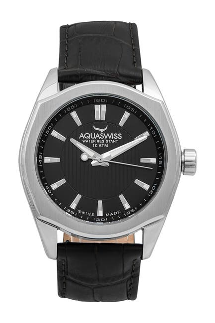 Image of Aquaswiss Unisex Classic IV Leather Strap Watch, 50mm