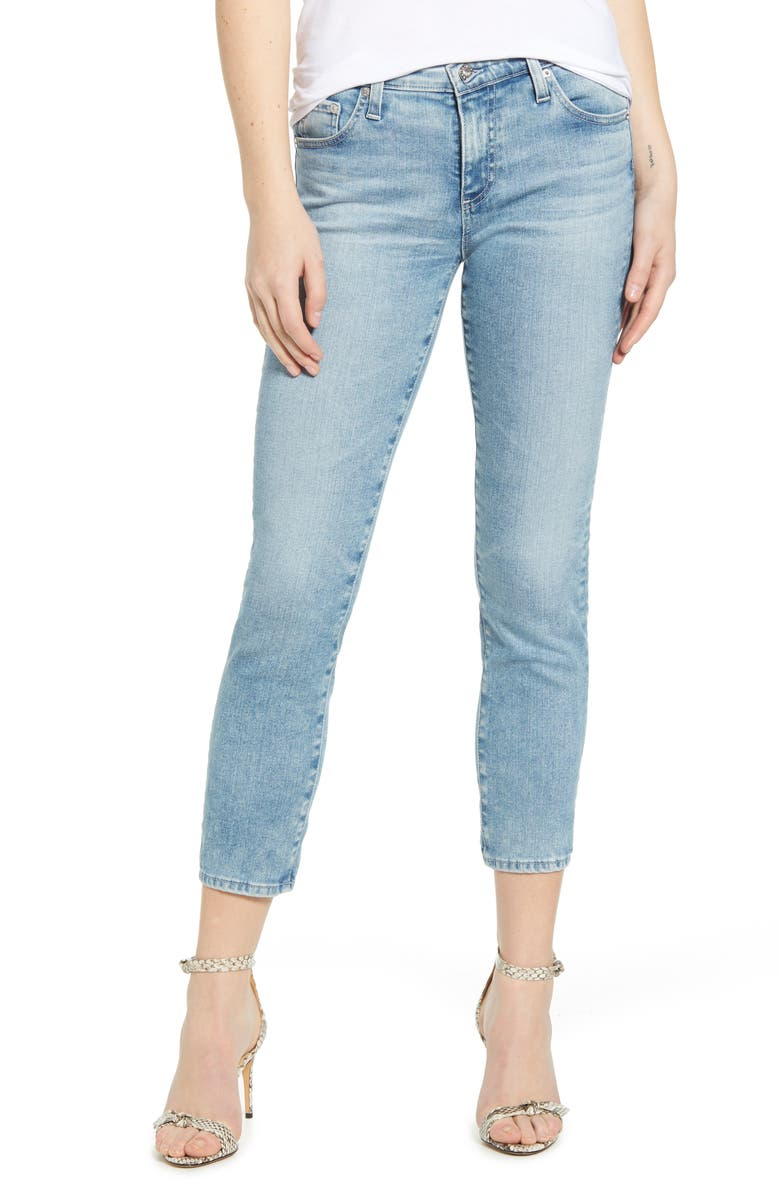 AG Prima Crop Cigarette Jeans, Main, color, 26 YEARS SKYLIGHT