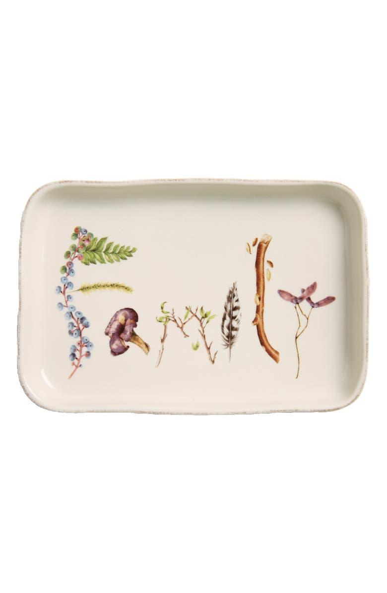 JULISKA Forest Walk Family Ceramic Tray, Main, color, CAFE AU LAIT