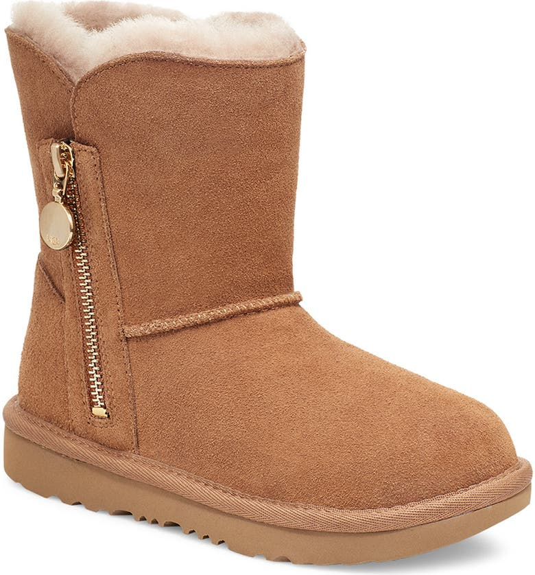 UGG<SUP>®</SUP> Bailey Genuine Shearling Lined Boot, Main, color, CHESTNUT
