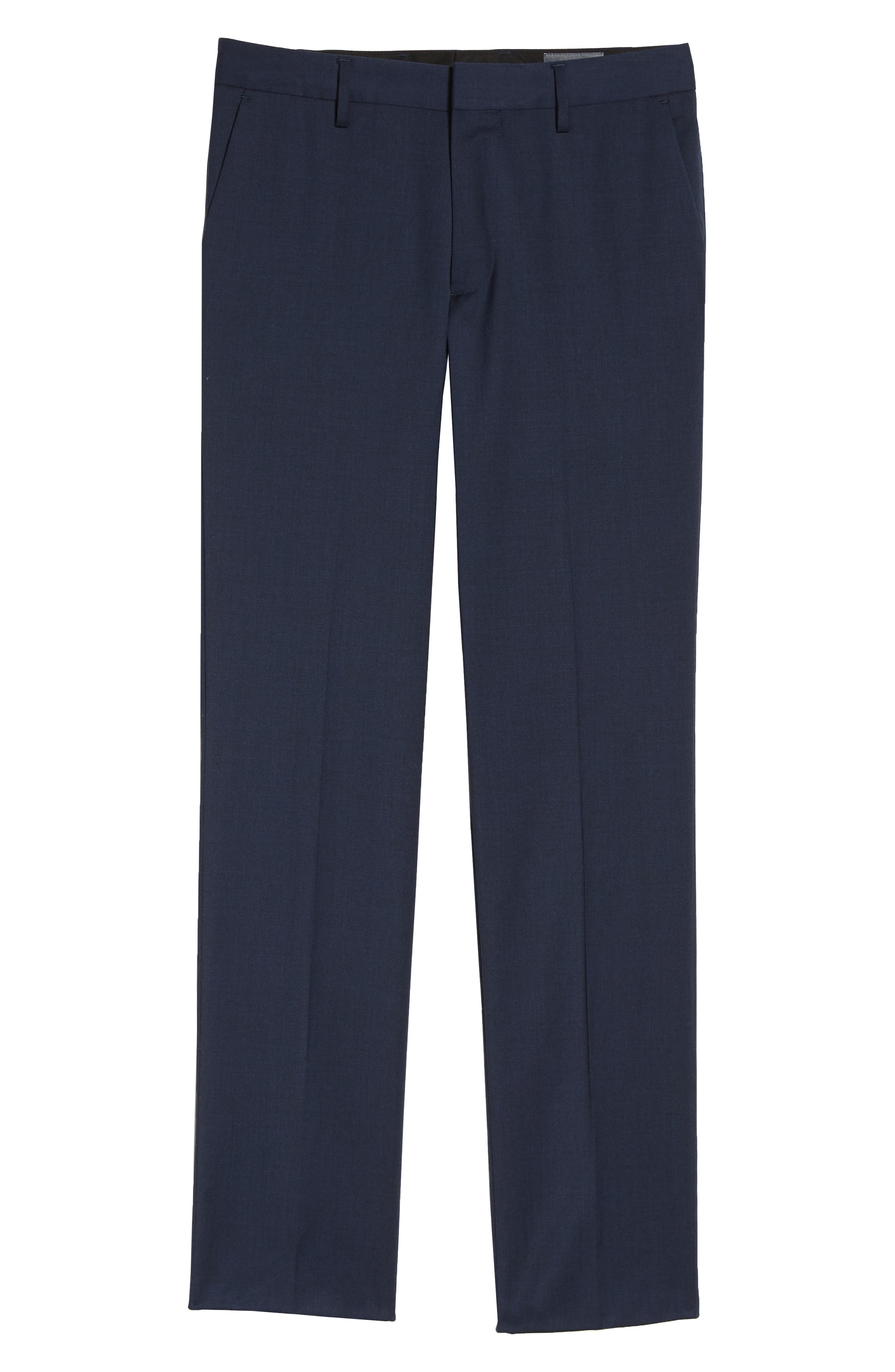 ,                             Jetsetter Slim Fit Flat Front Stretch Wool Trousers,                             Alternate thumbnail 40, color,                             401