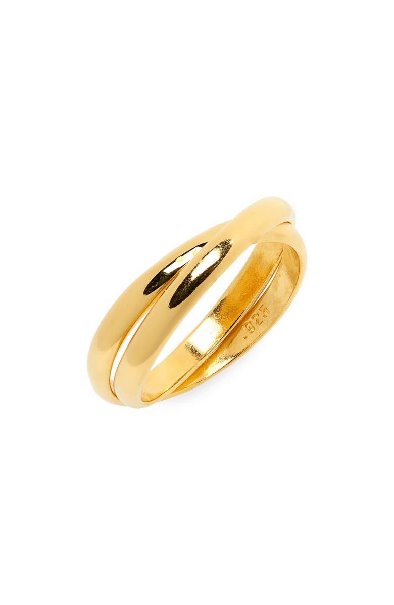 SOPHIE BUHAI Double Circle Ring, Main, color, 18K GOLD VERMEIL