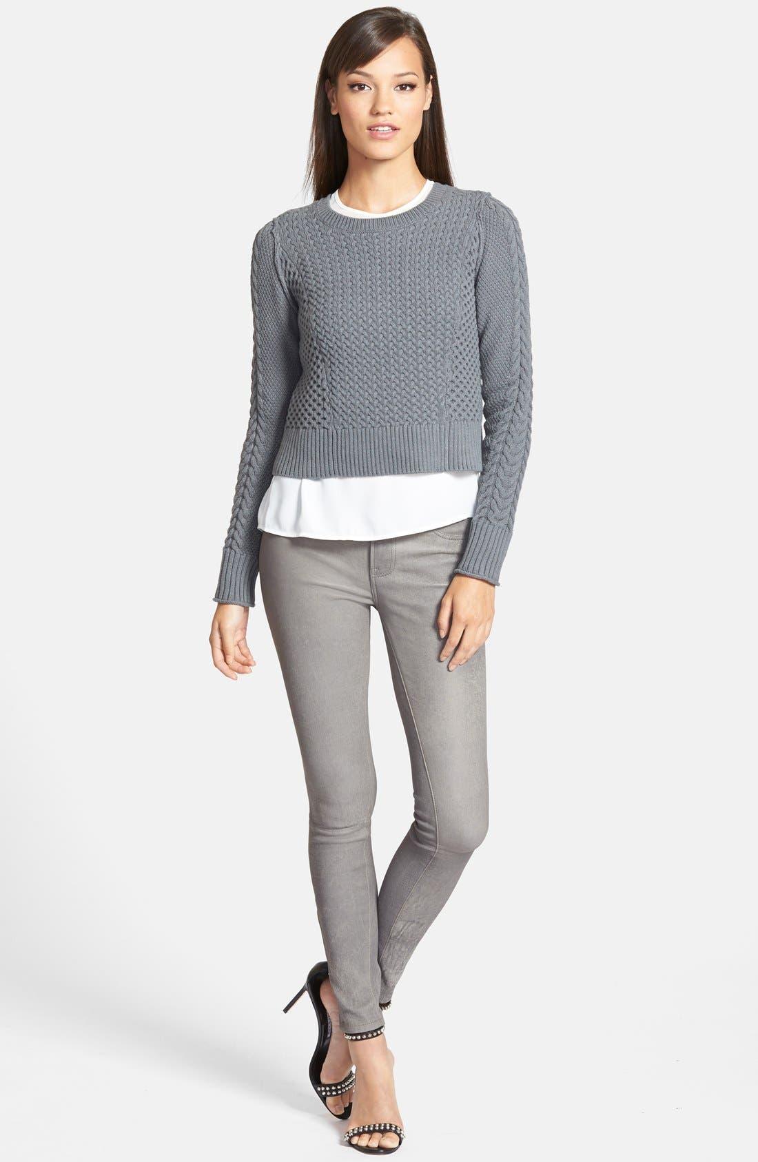 ,                             '8001' Lambskin Leather Pants,                             Alternate thumbnail 48, color,                             024
