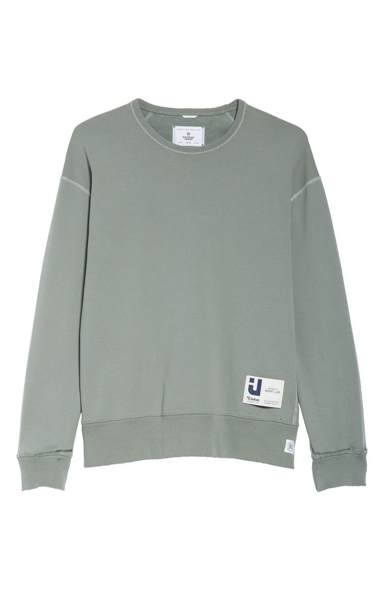 REIGNING CHAMP Relaxed Crewneck Sweatshirt, Main, color, GREEN