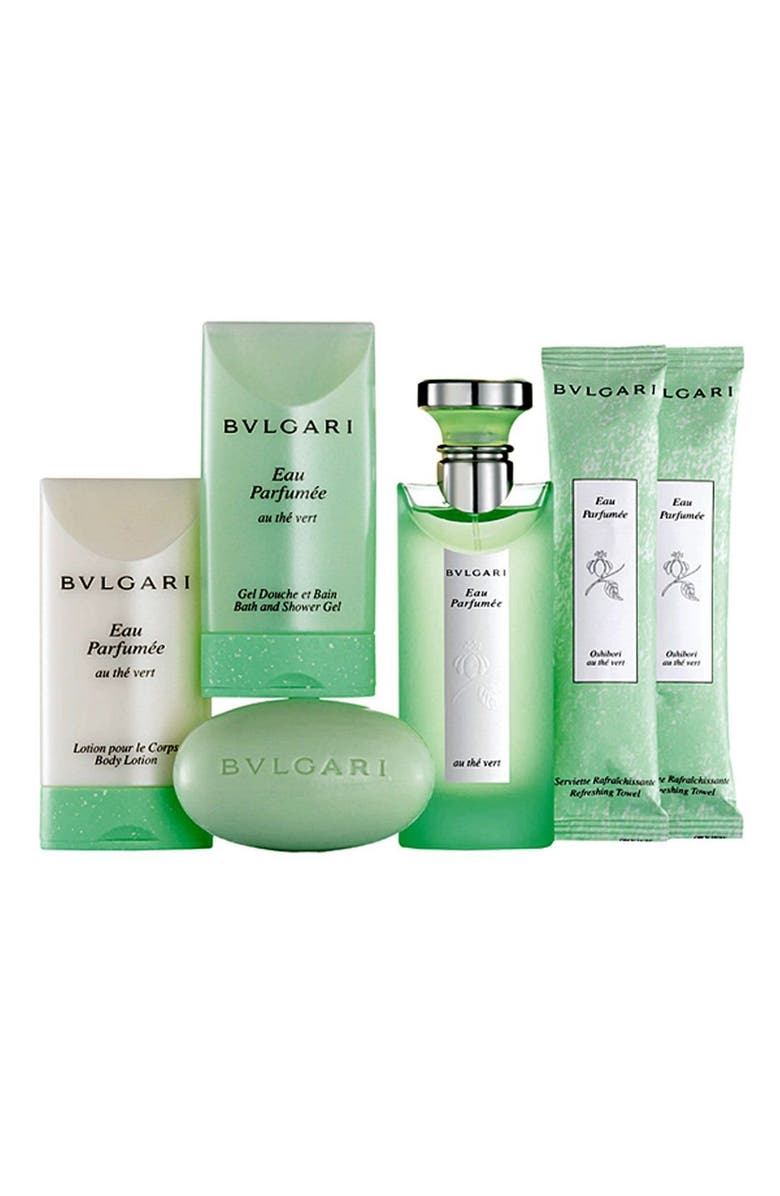 ZZDNU BVLGARI EAU PARFUMEE AU THE BLANC BVLGARI 'Eau Parfumée au thé vert' Guest Collection Set, Main, color, 000