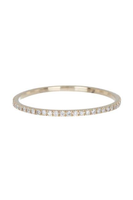 Image of ADORNIA Fine 14K Gold Full Diamond Eternity Band Ring - 0.2 ctw