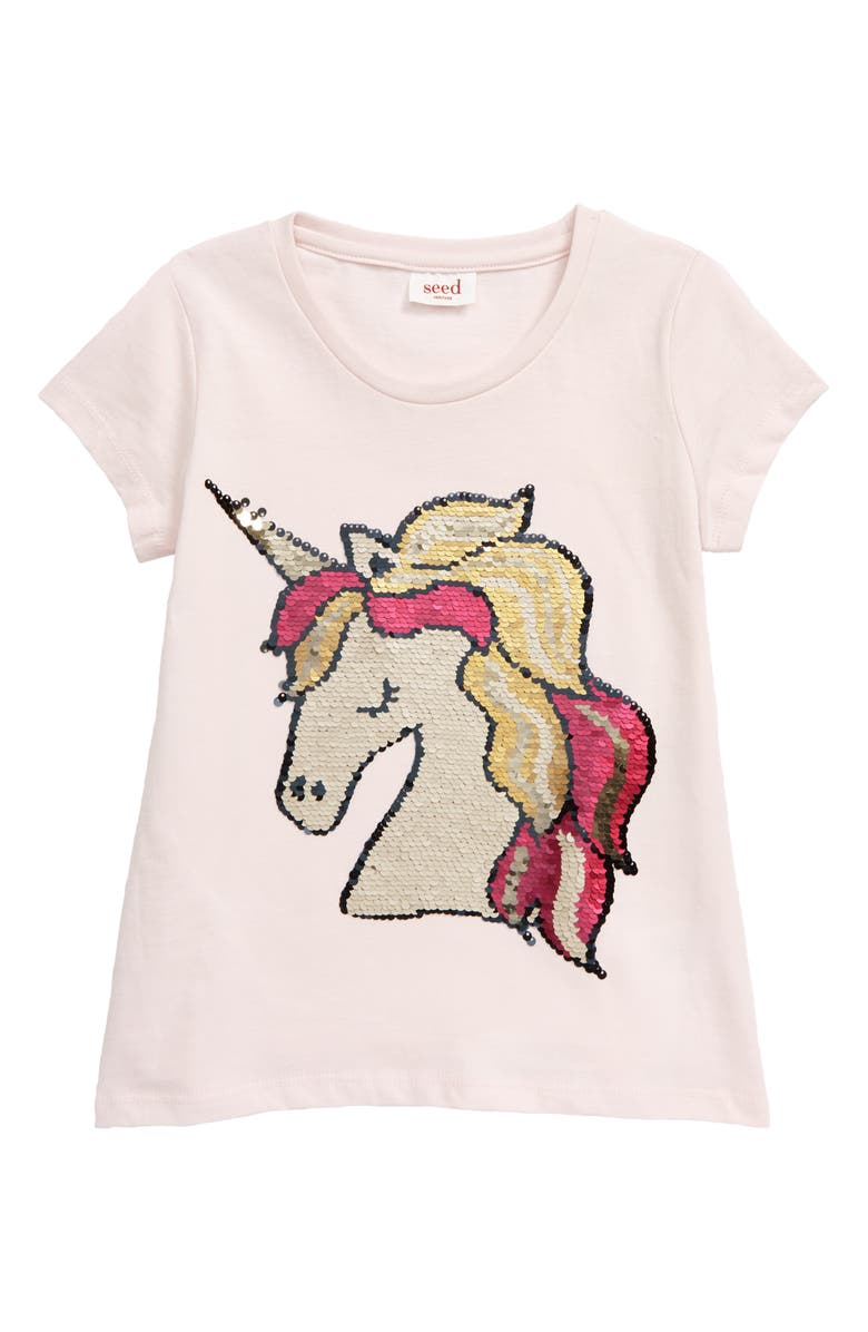 SEED HERITAGE Flip Sequin Unicorn Tee, Main, color, 650