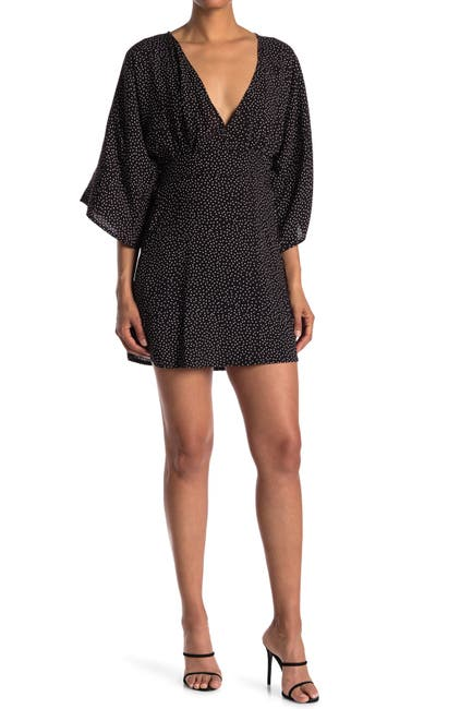 Image of Velvet Torch Kimono V-Neck Dress
