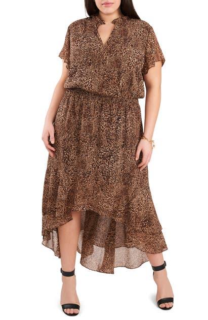 1.state Dresses WILDFLOWER BOUQUET RUFFLE HIGH/LOW DRESS
