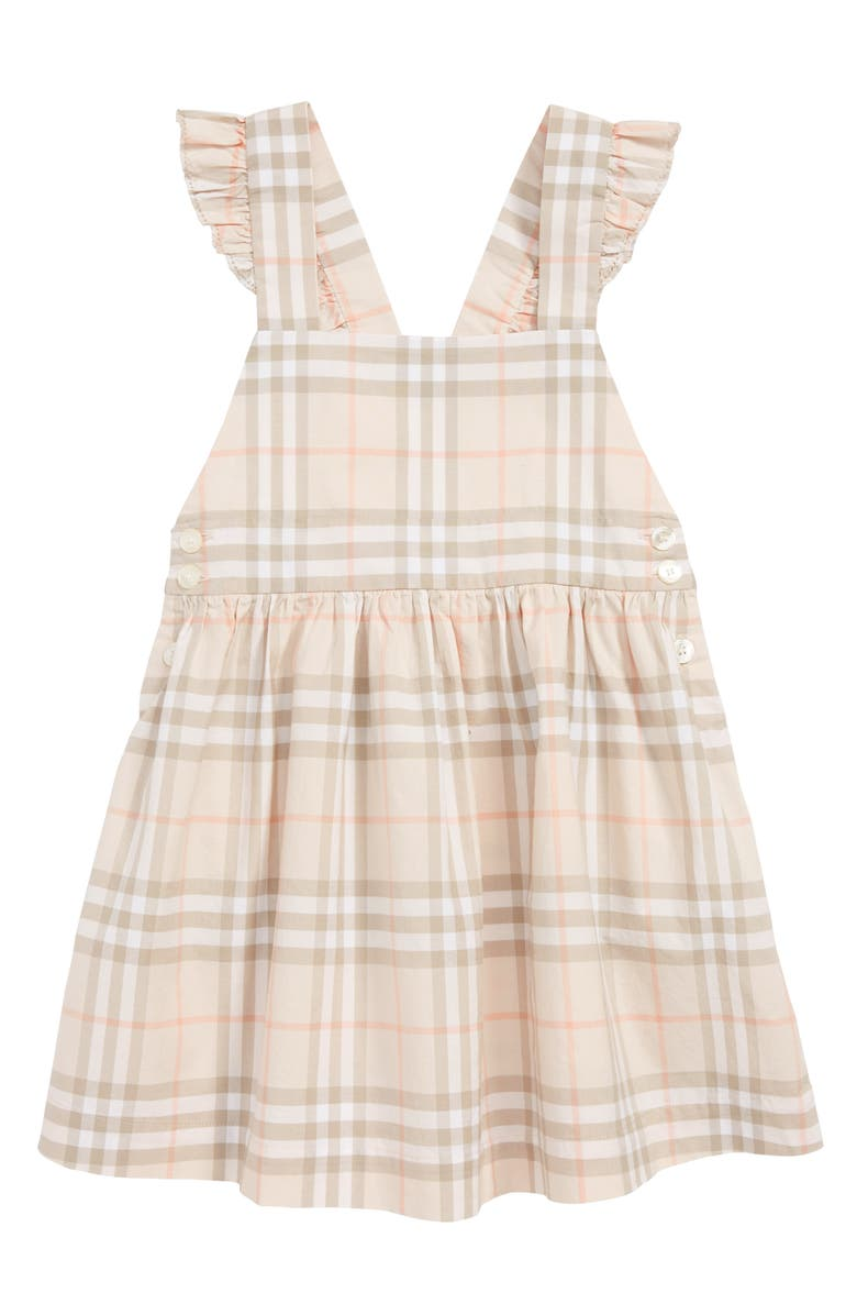 BURBERRY Livia Apron Back Dress, Main, color, PALE PINK APRICOT