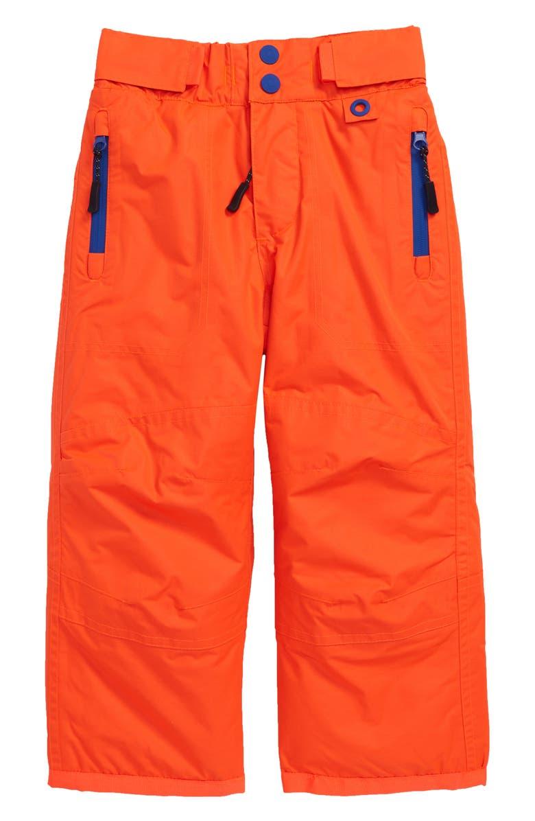 MINI BODEN All Weather Waterproof Pants, Main, color, TECHNO ORANGE