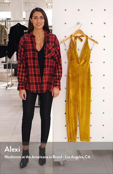 Emmy Plunge Velvet Jumpsuit, sales video thumbnail