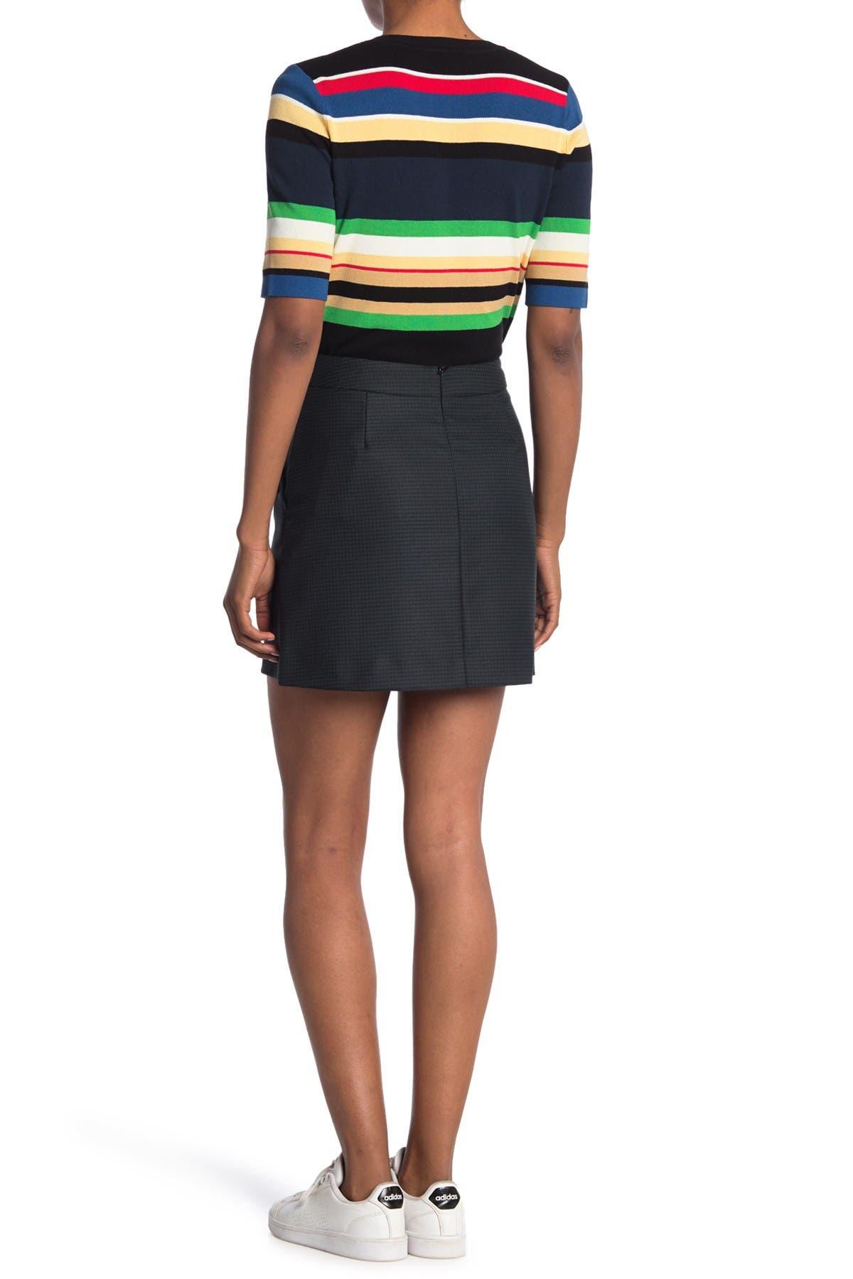 Image of VERONICA BEARD Barnes Button Mini Skirt