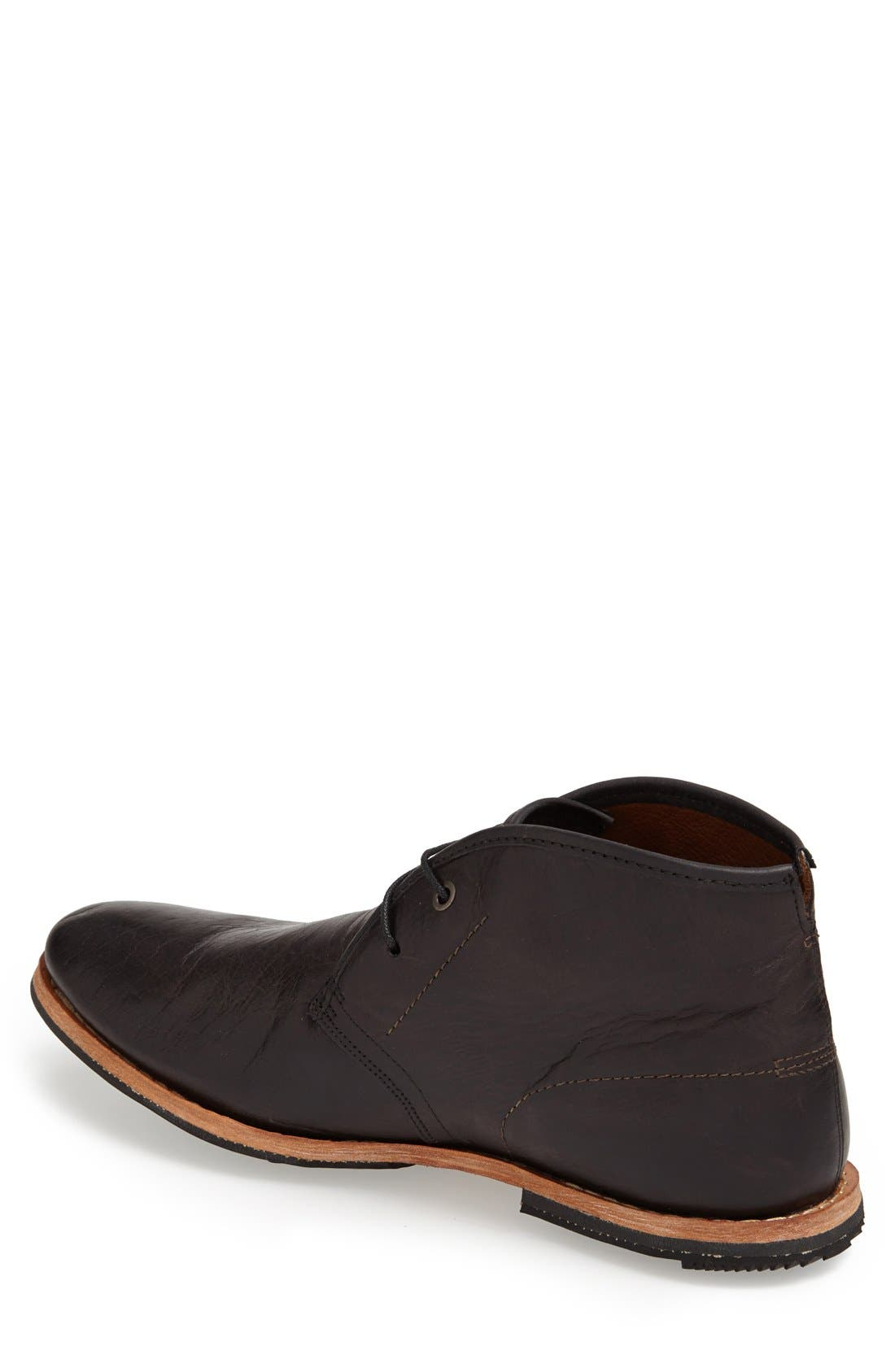 ,                             Wodehouse History Chukka Boot,                             Alternate thumbnail 3, color,                             BLACK LEATHER