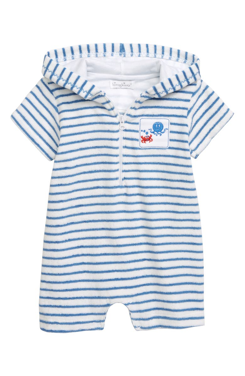 KISSY KISSY Under the Sea Hooded Terry Romper, Main, color, 400