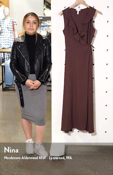 Flounce Neck Wrap Style Dress, sales video thumbnail