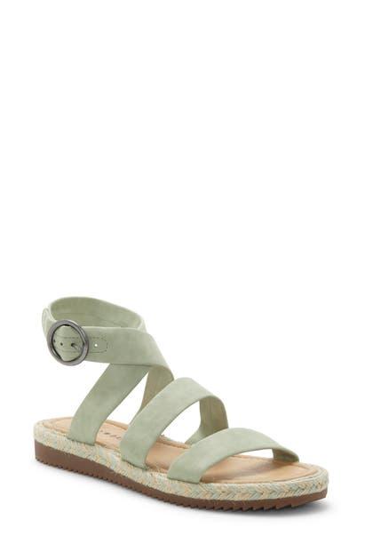 Lucky Brand Delfinne Sandal In Desert Sage Leather