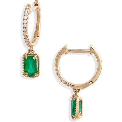 Bony Levy El Mar Emerald & Diamond Drop Earrings (Nordstrom Exclusive)
