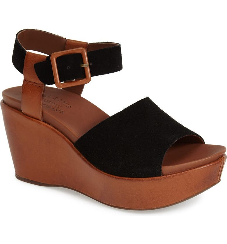 KORK-EASE<SUP>®</SUP> 'Keirn' Platform Wedge Sandal, Main, color, 001