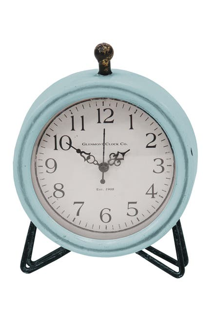 Image of Stratton Home Blue/Black Dixie Table Clock