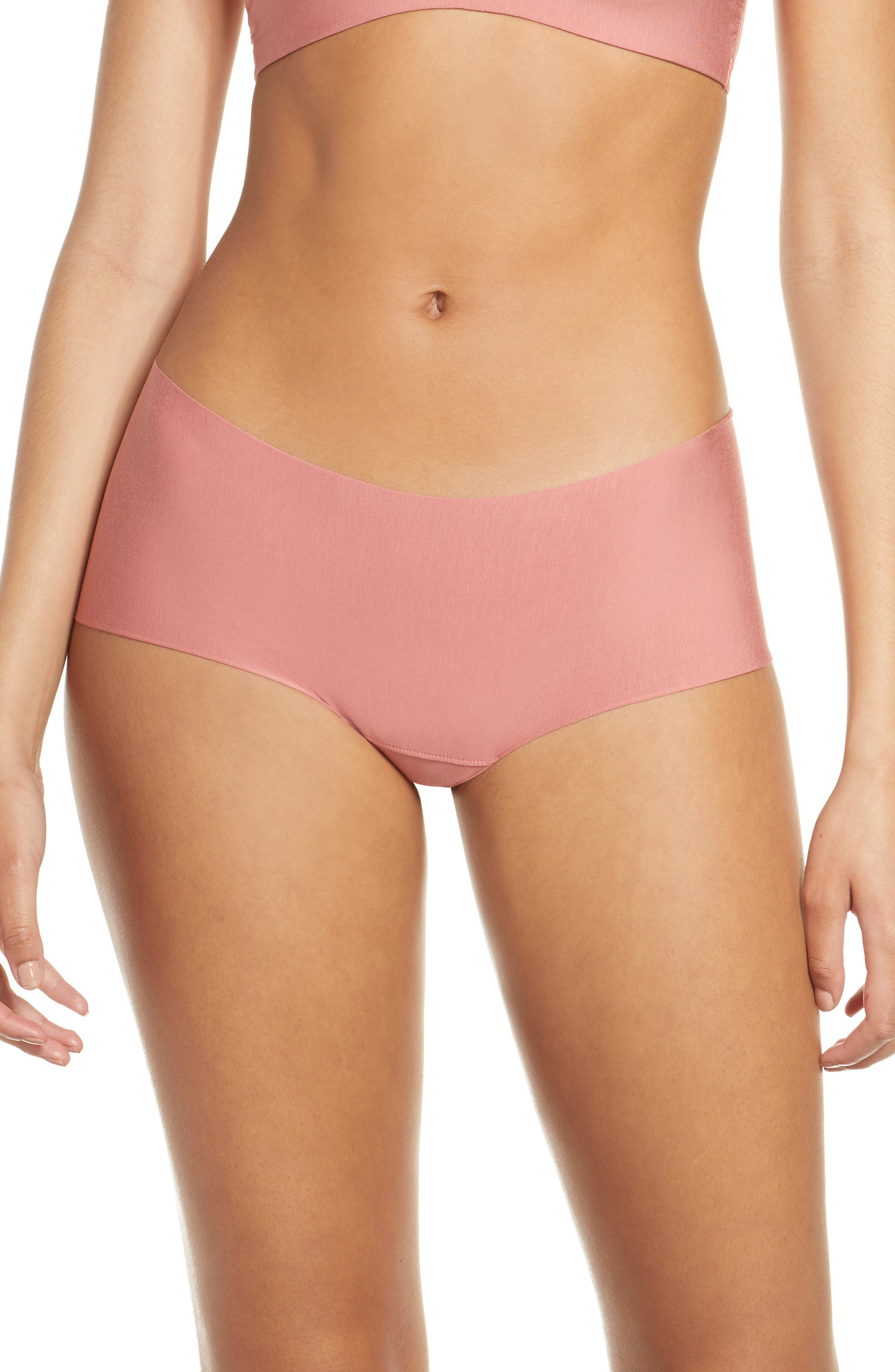 Women's Commando Butter Seamless Hipster Panties,  Large - Brown
