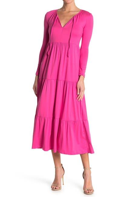 Image of Velvet Torch 3/4 Sleeve Midi Dress