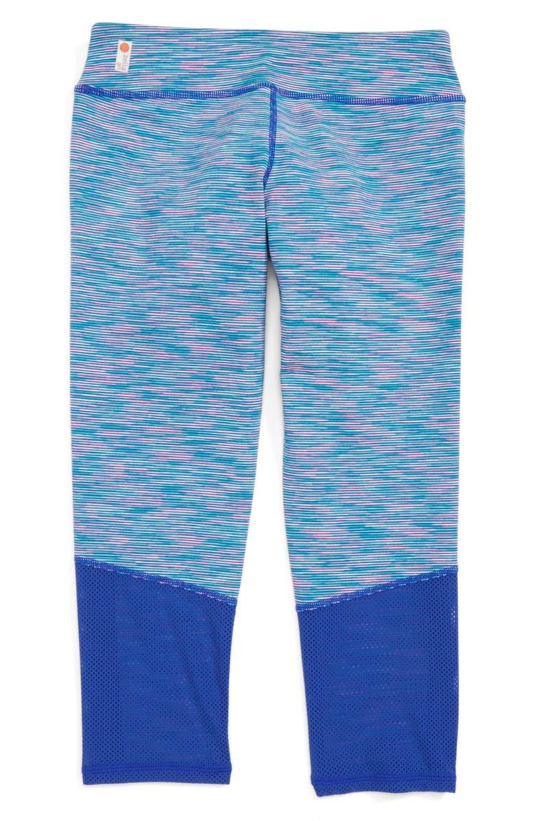 ZELLA GIRL Blur Crop Leggings, Main, color, 420