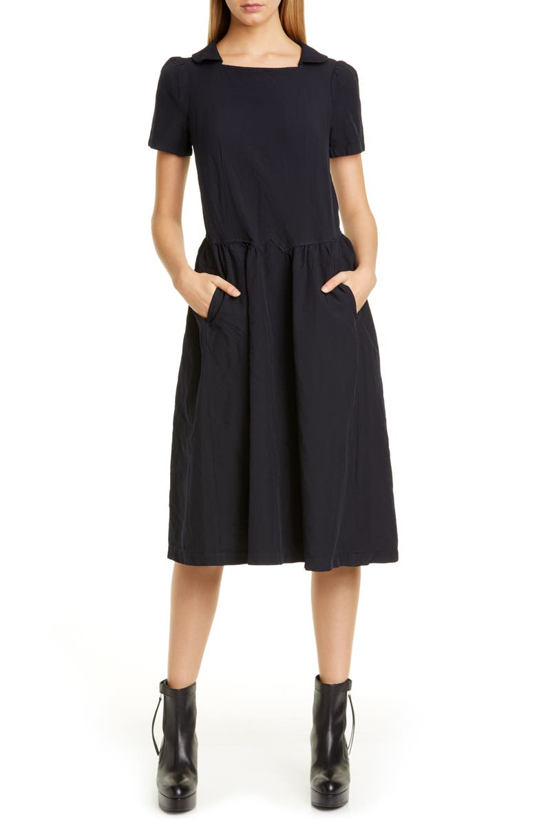 COMME DES GARÇONS Square Neck Midi Dress, Main, color, BLUE