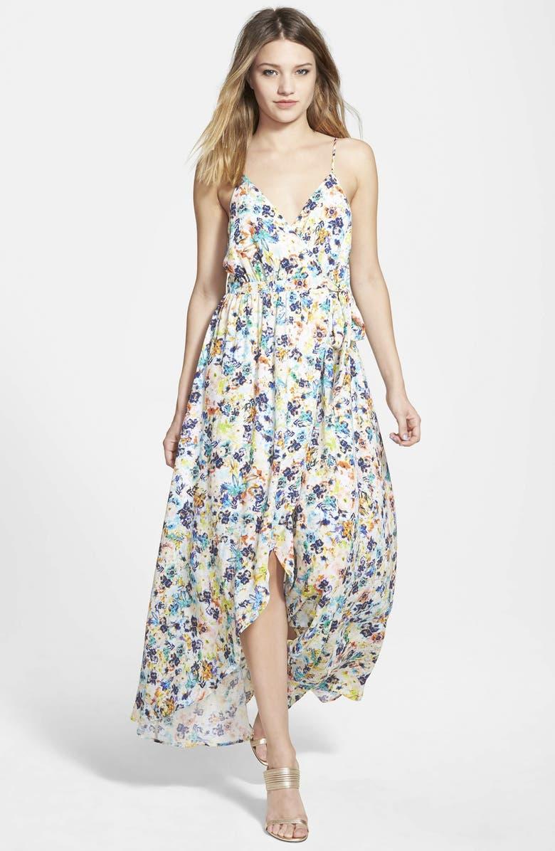 JUNE & HUDSON Wrap Maxi Dress, Main, color, 700