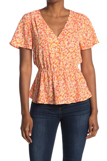 Image of ECLAIR Short Sleeve Button Front Blouse