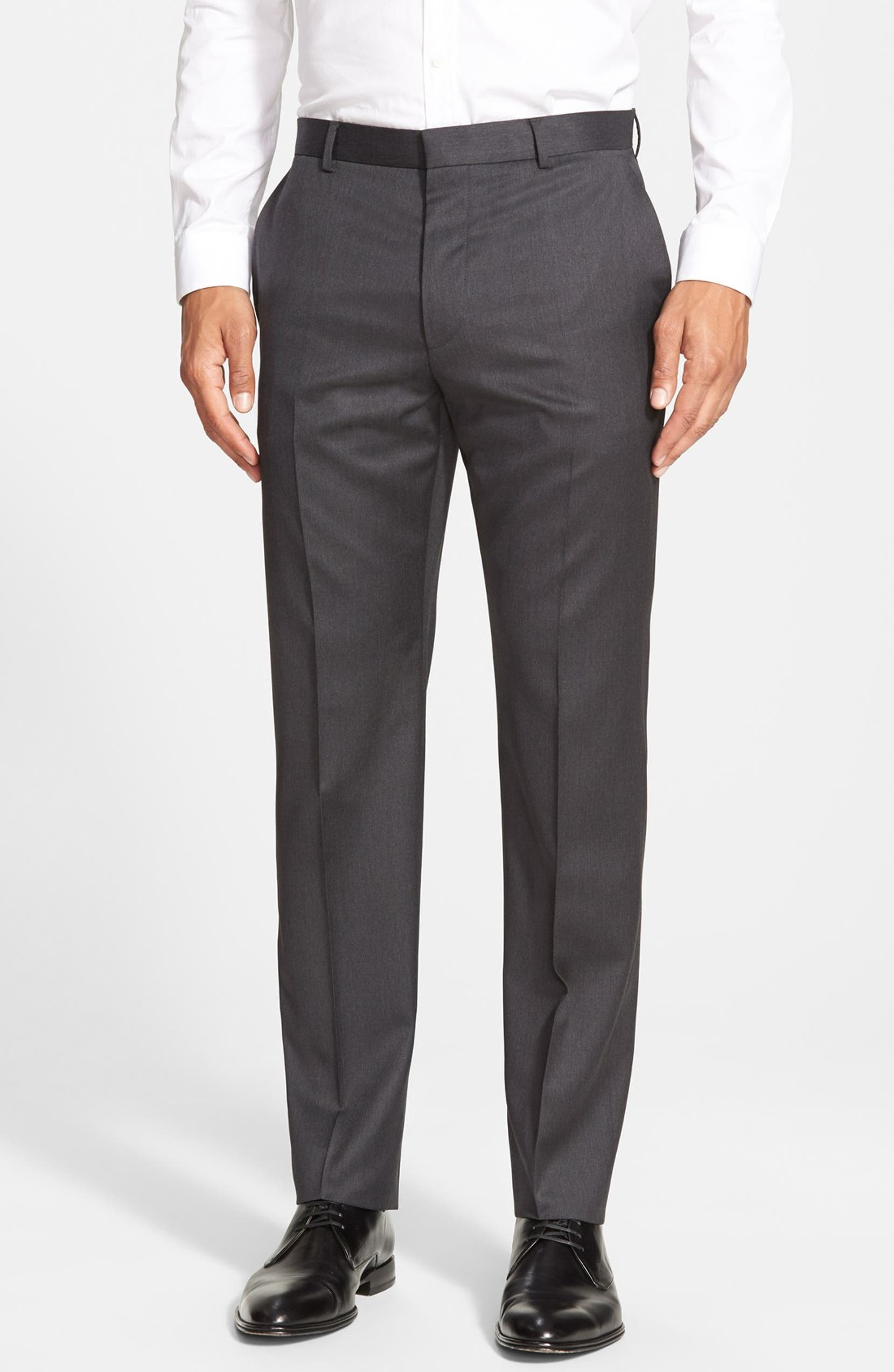 4c4f031f HUGO 'Aeron/Hamen - Super Graphite' Trim Fit Solid Wool Suit | Nordstrom