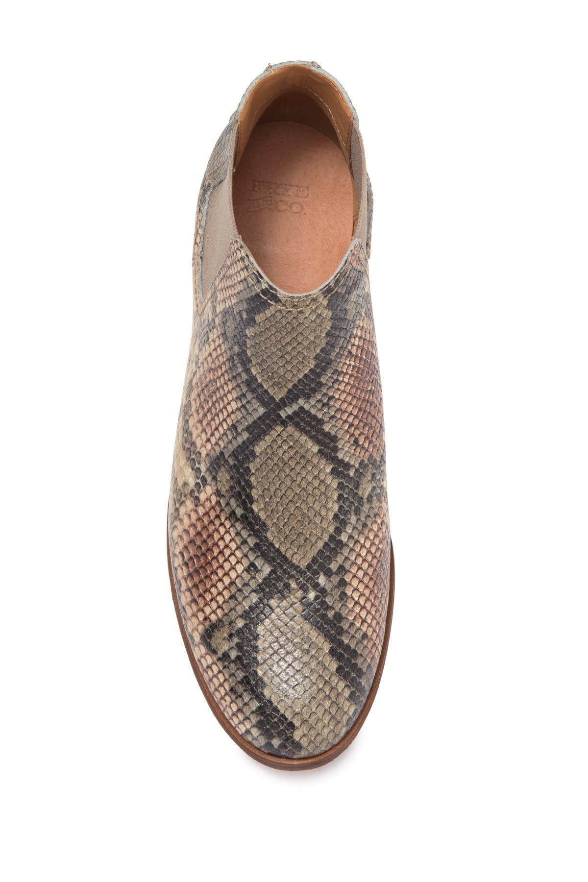 Frye & Co Mila Snake Embossed Chelsea Boot