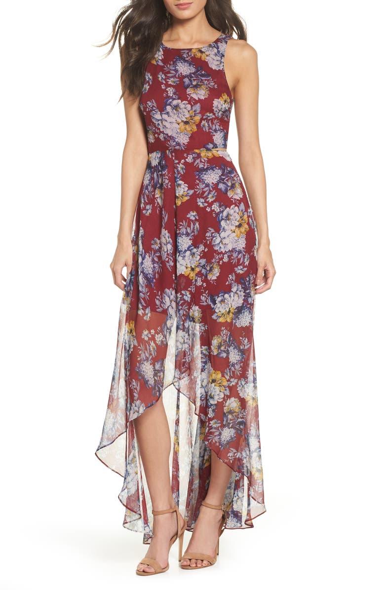 95a3fc234d8 Bohemian Rhapsody Floral Maxi Dress, Main, color, ROSE FLORAL