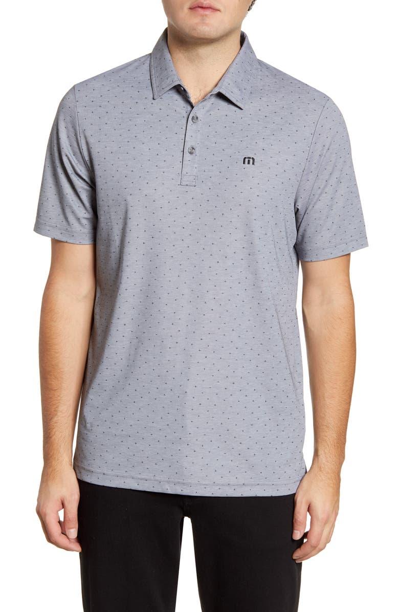 TRAVISMATHEW Sniper Regular Fit Polo Shirt, Main, color, HEATHER QUIET SHADE