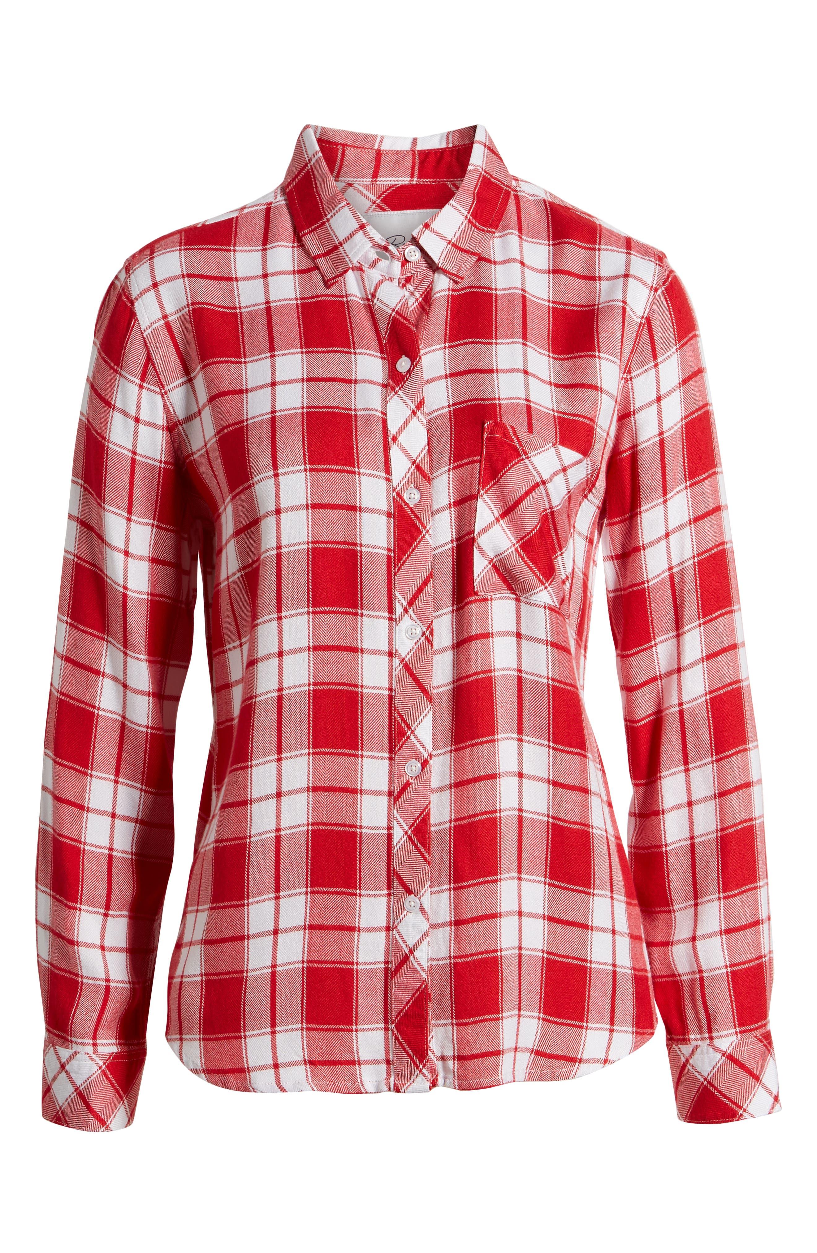,                             Hunter Plaid Shirt,                             Alternate thumbnail 185, color,                             609