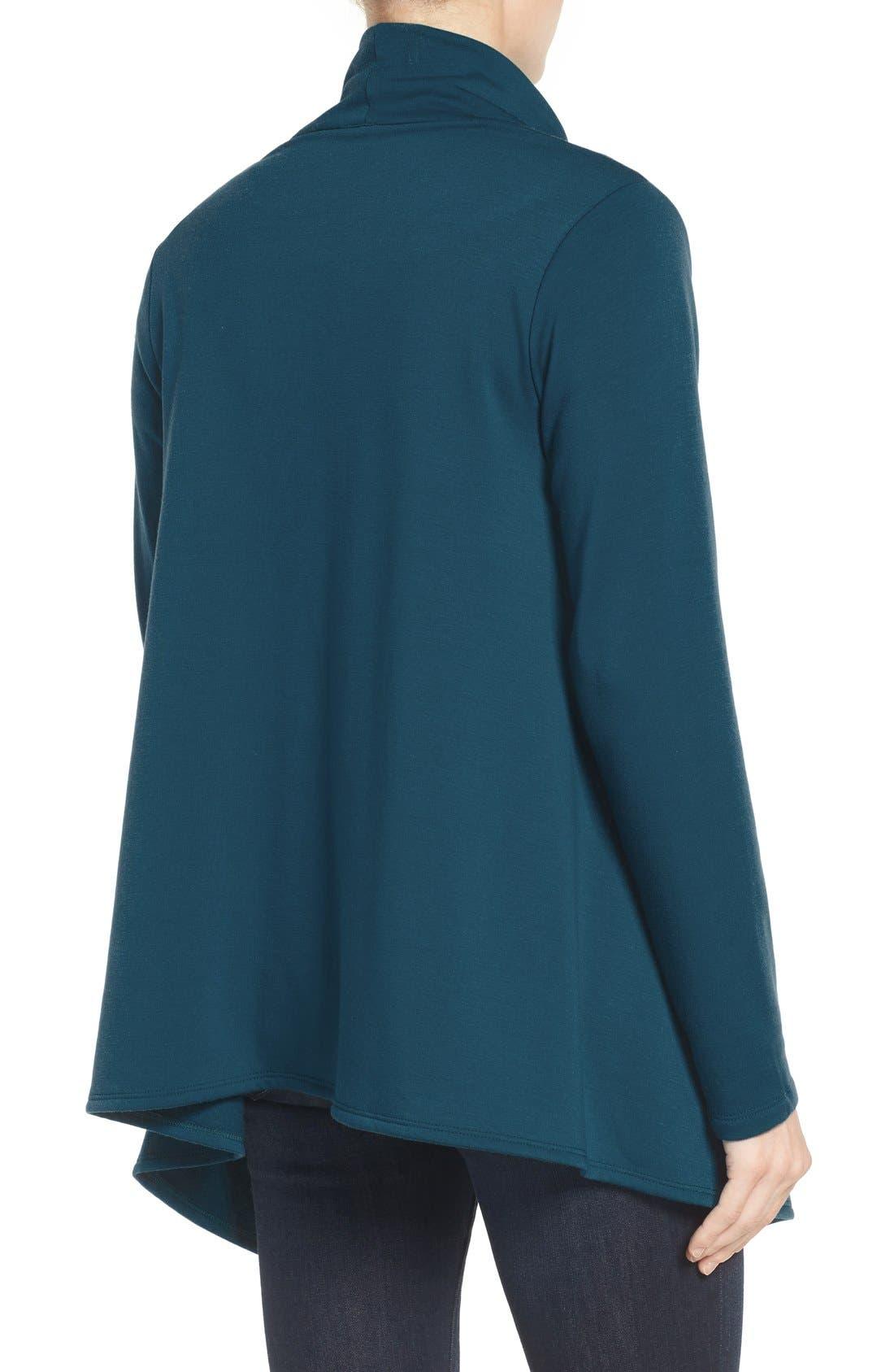 ,                             One-Button Fleece Wrap Cardigan,                             Alternate thumbnail 80, color,                             305