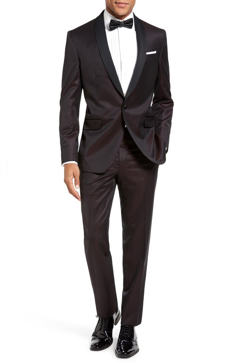 7cb6865c1bdece Ted Baker London 'Josh' Trim Fit Wool Tuxedo | Nordstrom