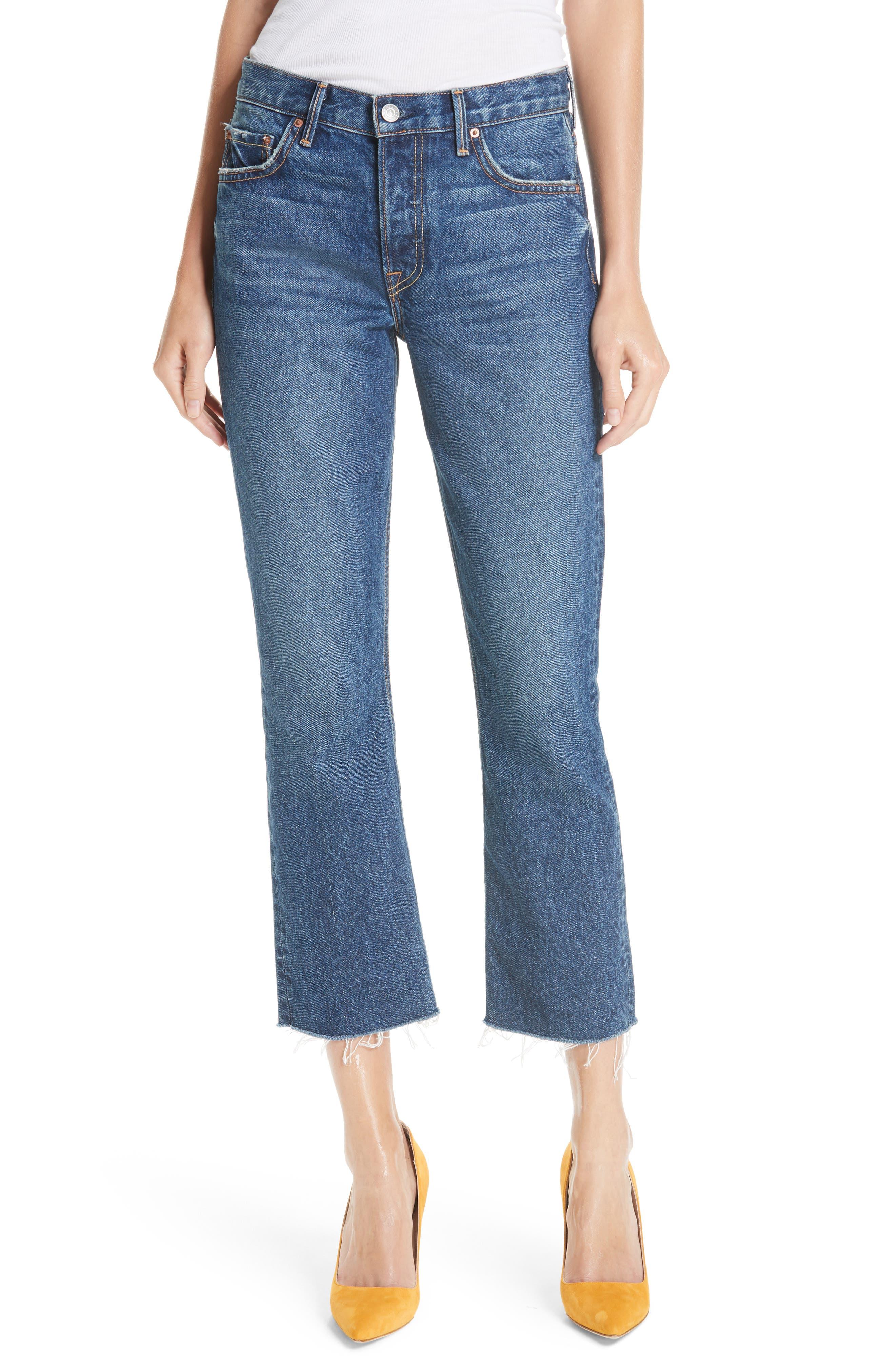 Tatum Crop Flare Jeans, Main, color, 430