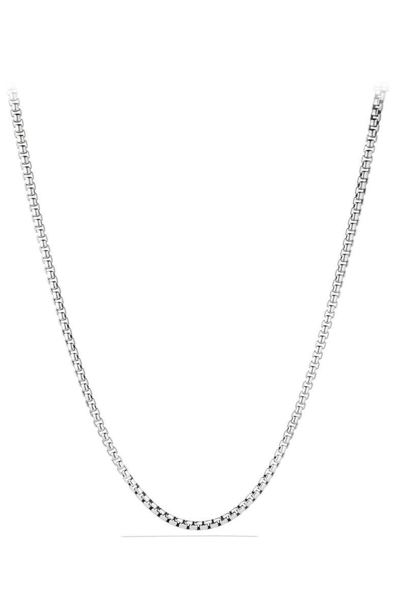 DAVID YURMAN Large Box Chain Necklace, Main, color, SILVER