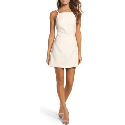 French Connection Whisper Light Sheath Minidress, White