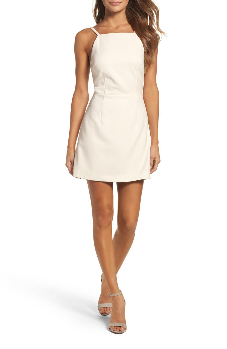 FRENCH CONNECTION Whisper Light Sheath Minidress, Main, color, SUMMER WHITE