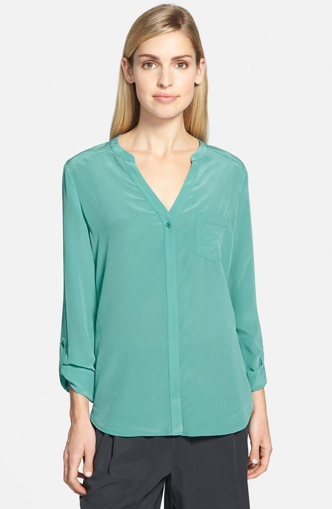 ,                             Collarless Silk Blouse,                             Main thumbnail 54, color,                             440